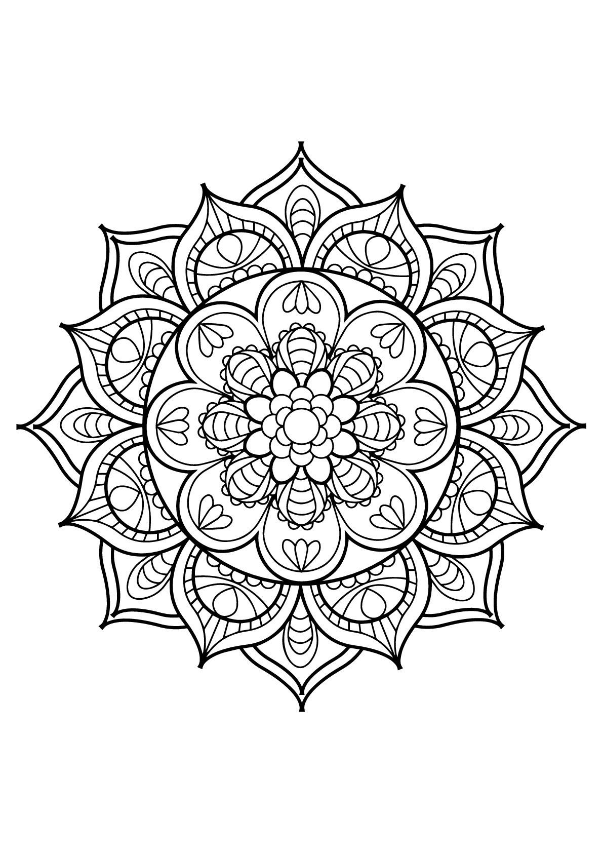 Coloring Page ~ Mandala Coloring Pages To Print Page Beyoncediario - Free Printable Mandala Coloring Pages For Adults