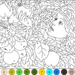 Coloring Page: Phenomenal Colornumber Coloring Pages Free.   Free Printable Color By Number For Adults