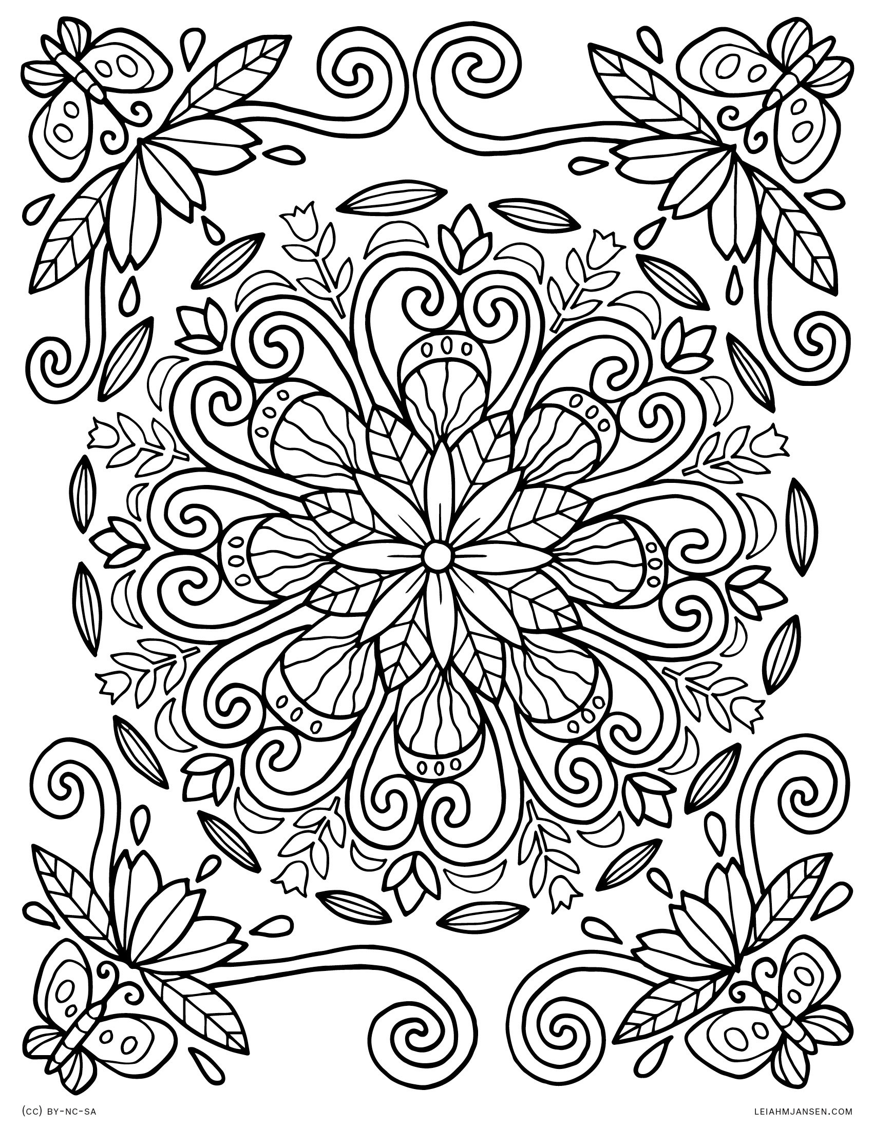 Coloring Pages - Free Printable Spring Pictures To Color