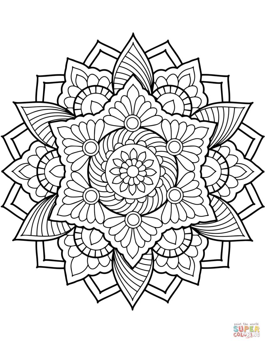 Coloring Pages Ideas: Coloring Pages Ideas Flower Mandala Meaning To - Free Printable Mandalas