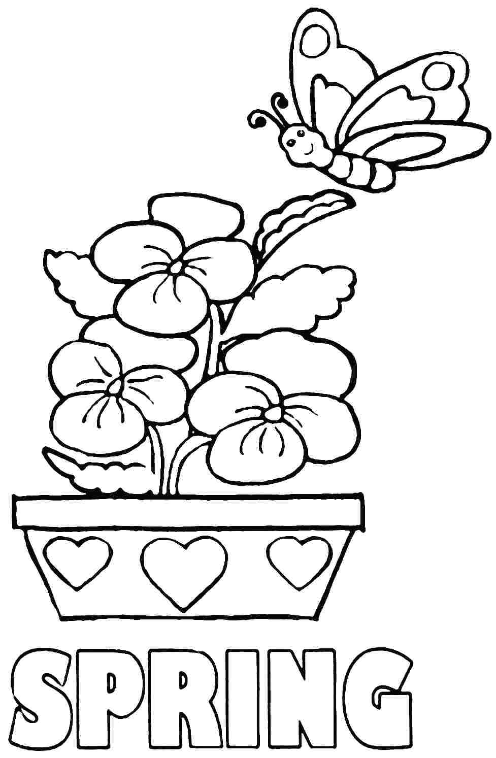 Coloring Pages Ideas : Freeg Collection Of For Prek Download Them - Free Printable Spring Coloring Pages For Kindergarten
