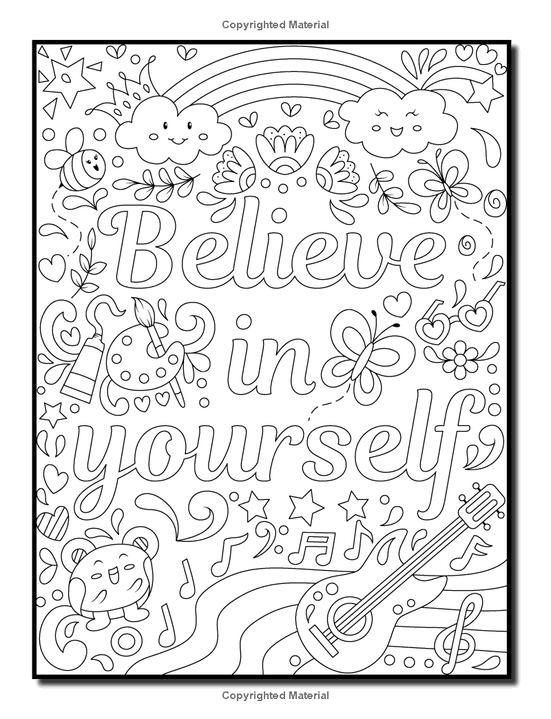 Coloring Pages Ideas: Inspirational Quotes Coloring Book Download - Free Printable Coloring Book Download
