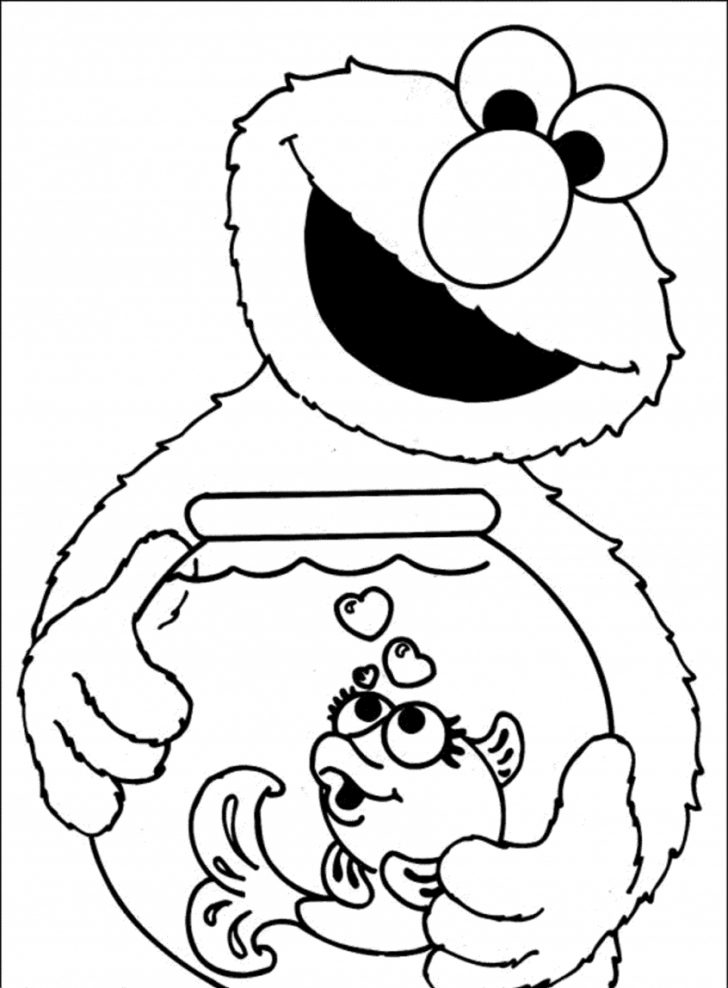 Elmo Color Pages Free Printable