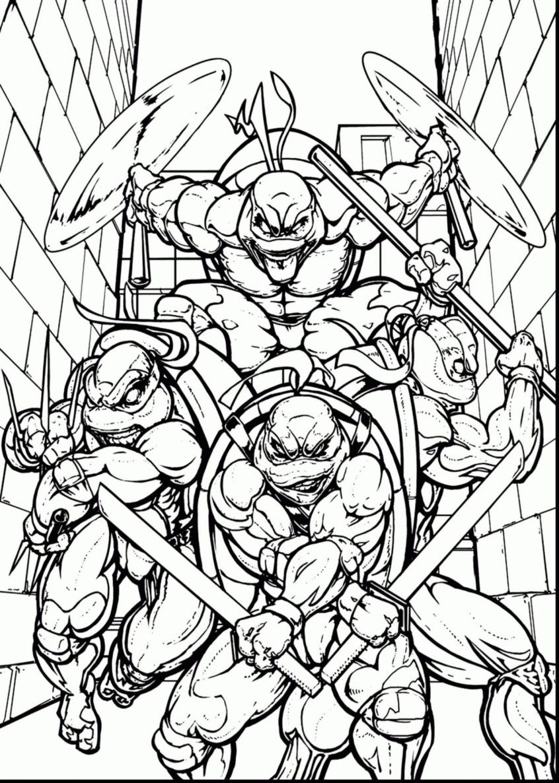 Coloring Pages Ideas: Tmnt Coloring Pages Refrence Teenageant Ninja - Teenage Mutant Ninja Turtles Printables Free