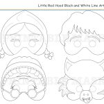 Coloring Pages Little Red Riding Hoodholidaypartystar On Zibbet   Little Red Riding Hood Masks Printable Free