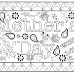 Colouring Mothers Day Card Free Printable Template   Free Printable Mothers Day Cards To Color