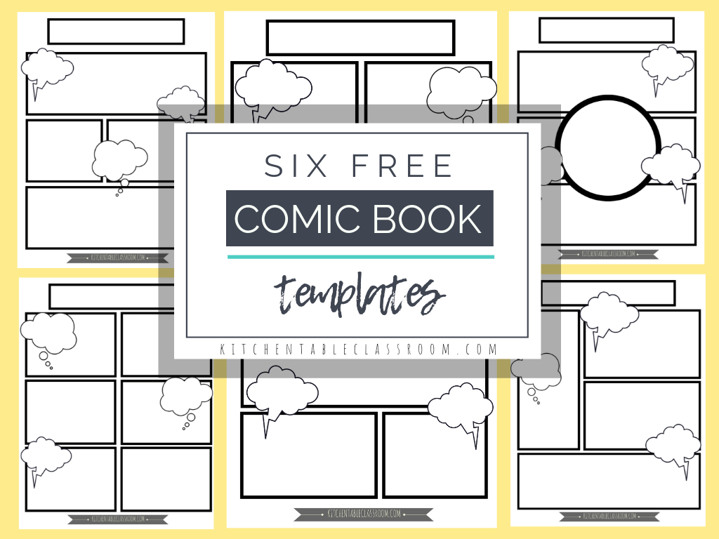 Comic Book Templates - Free Printable Pages - The Kitchen Table - Free Printable Memory Book Templates