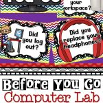 Computer Lab   Before You Go Posters | Bulletin Boards  Computers   Free Printable Computer Lab Posters