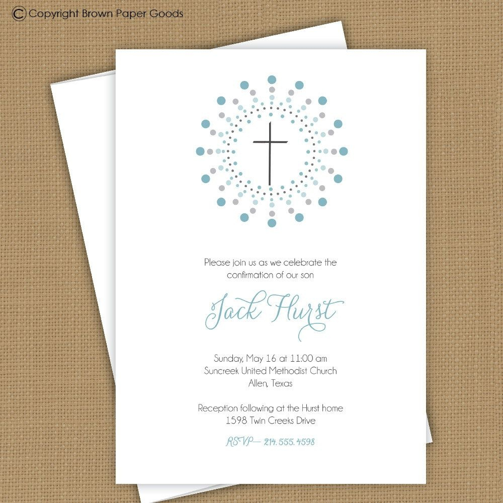 Confirmation Invitation Template | Confirmation Template | First - Free Printable First Communion Invitation Templates