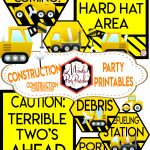 Construction Birthday Party Printables | Free Construction Party   Free Construction Party Printables