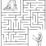 Construction Maze | Summer Camp Construction | Mazes For Kids, Mazes   Free Printable Mazes For Kids