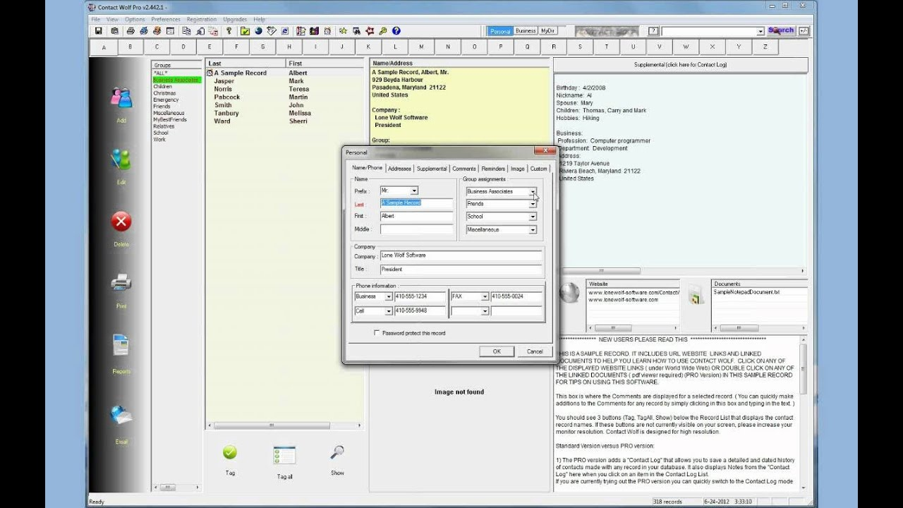 Contact Management Address Book Software For Windows - Free Printable Address Book Software