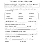 Context Clues Worksheet Writing Part 1 Intermediate  Free Worksheets   6Th Grade Writing Worksheets Printable Free