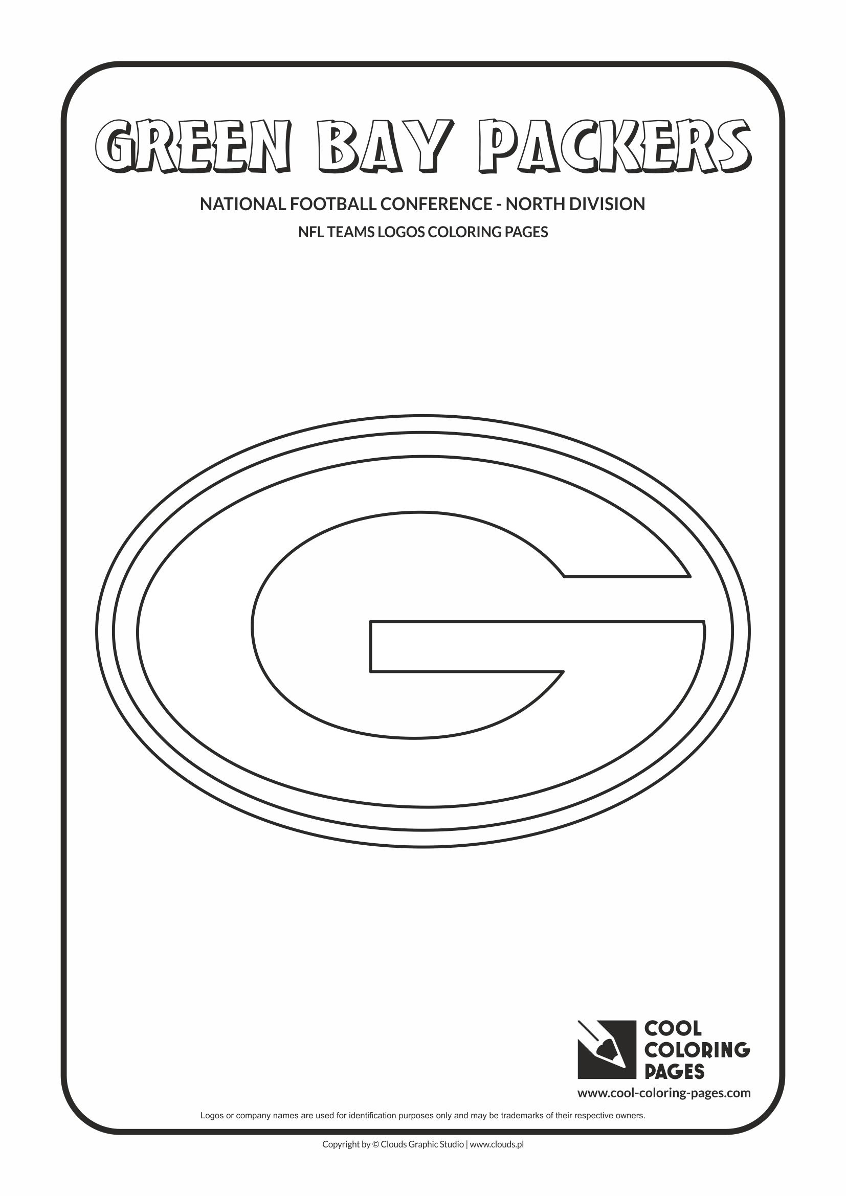 Cool Coloring Pages Green Bay Packers - Nfl American Football Teams - Free Printable Green Bay Packers Logo