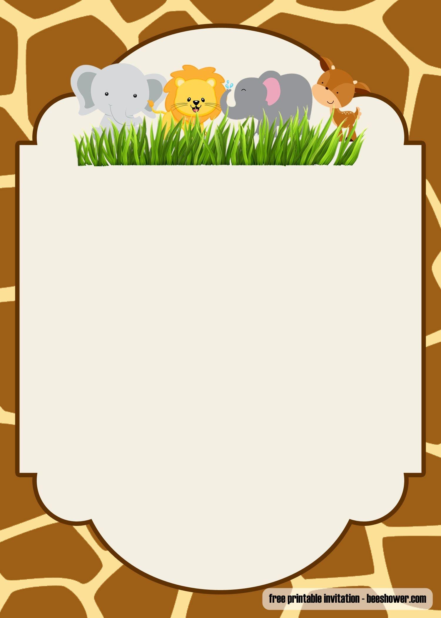 Cool Free Printable Safari Baby Shower Invitations Templates - Free Printable Baby Cards Templates