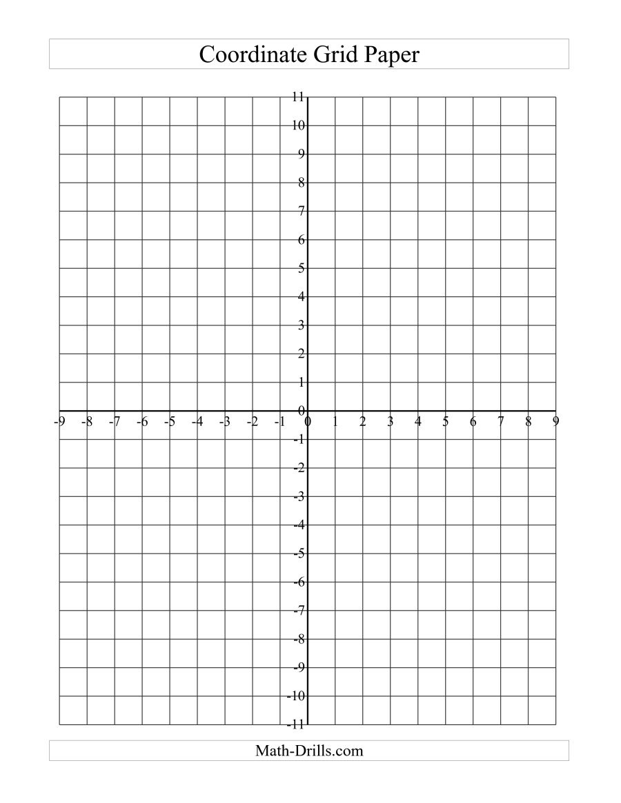 Coordinate Grid Paper (A) - Free Printable Coordinate Graphing Pictures Worksheets