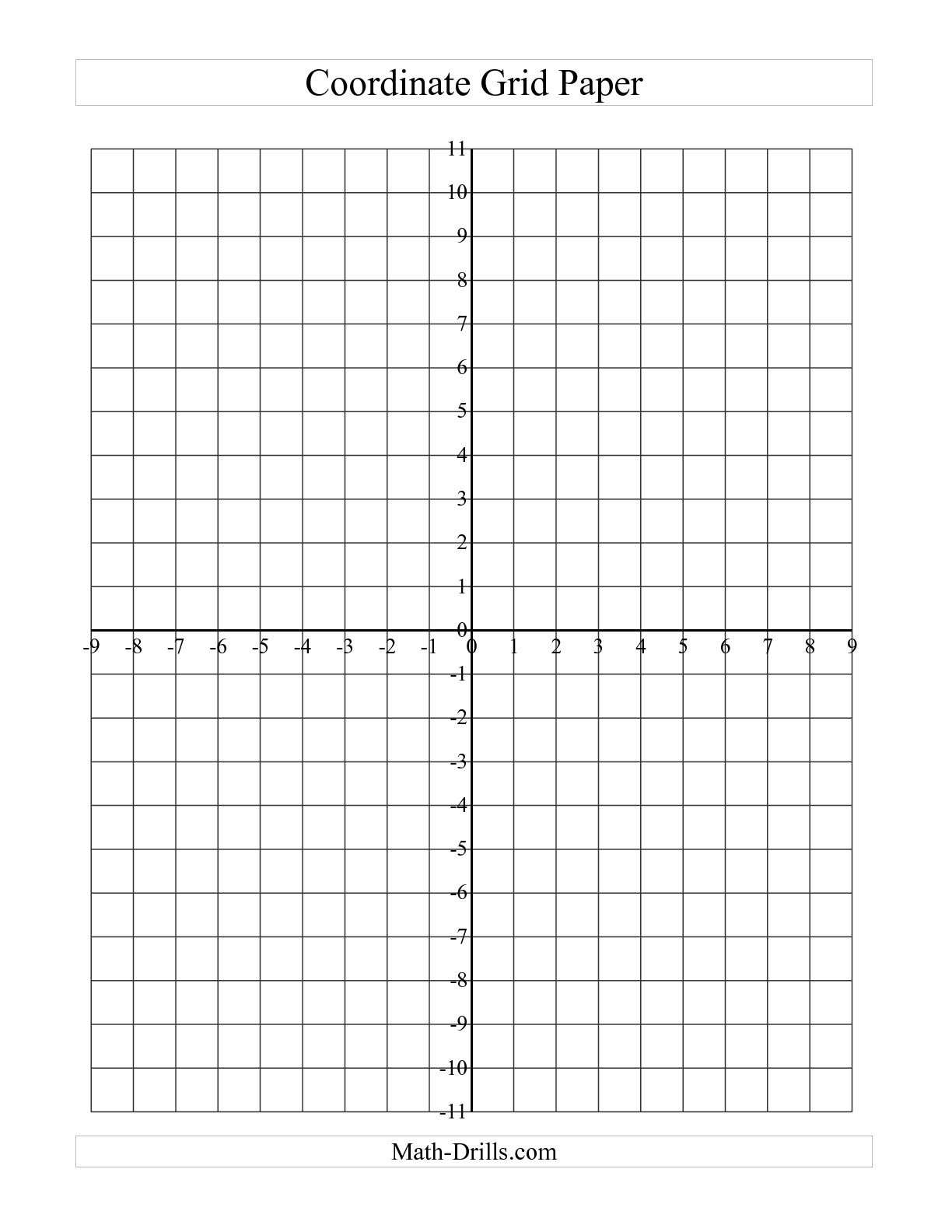 Coordinate Plane Graph Paper Template - Kaza.psstech.co - Free Printable Coordinate Graphing Worksheets