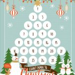 Countdown To Christmas Printable   Christmas Countdown Free Printable