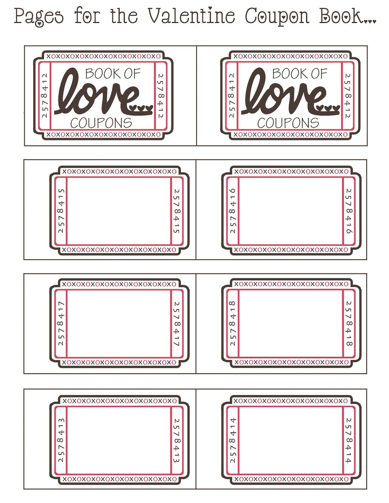 Coupon Book Ideas For Husband. Blank Love Coupon Templates Printable - Free Printable Coupons For Husband