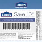 Coupons: Five (5X) Lowes 10% Off Printable Coupons   Exp 5/31/17   Free Printable Lowes Coupons