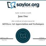 Course Completion Certificates | Saylor Academy   Free Online Courses With Printable Certificates