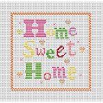 Cross Stitch Patterns Free Printable | Home Sweet Home Free Chart   Free Printable Modern Cross Stitch Patterns
