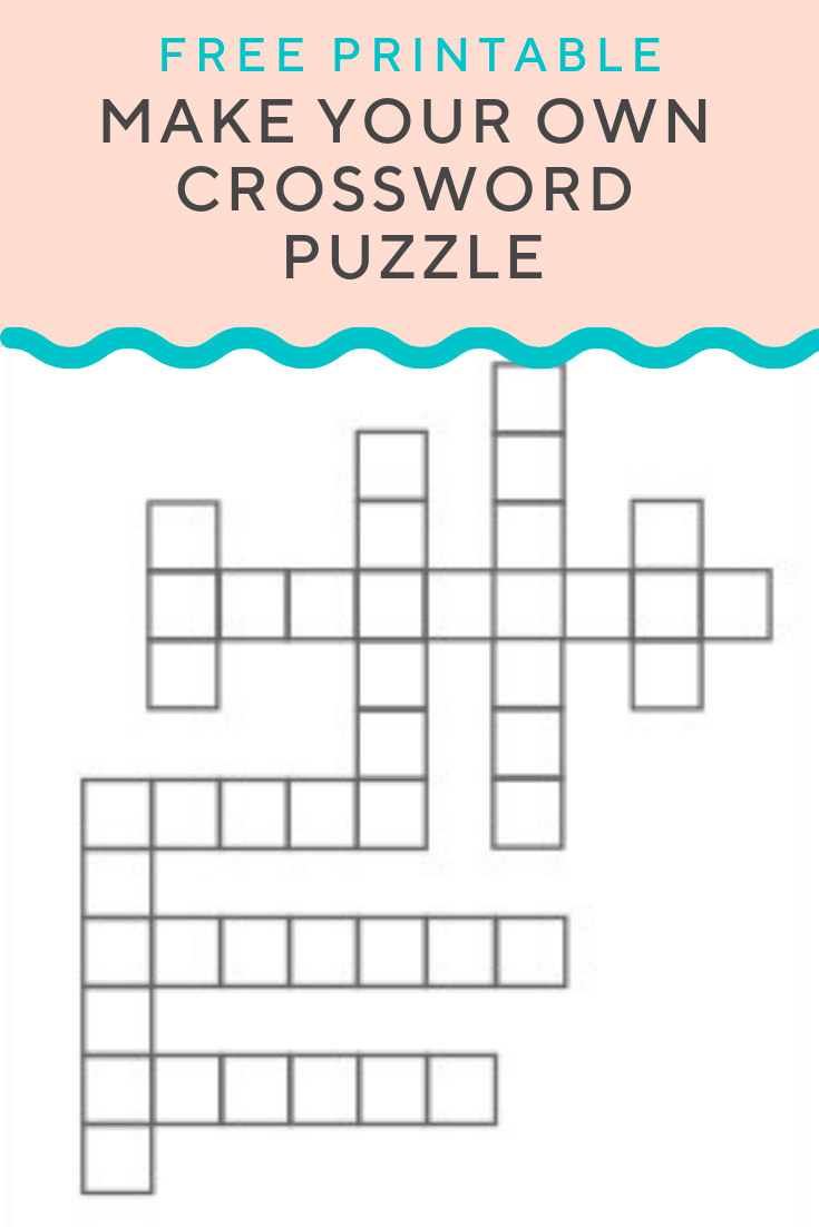 Crossword Puzzle Generator | Create And Print Fully Customizable - Free Make Your Own Crosswords Printable
