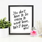 Cubicle Decor Printable Office Wall Art Funny Office Signs | Etsy   Free Printable Funny Office Signs