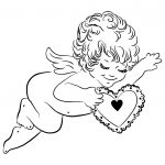 Cupid Coloring Pages | Free Printable Pictures   Free Printable Pictures Of Cupid