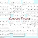 Cursive Handwriting Practice Sheets #backtoschoolweek   Kleinworth & Co   Free Printable Worksheets Handwriting Practice