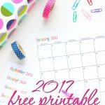 Custom Editable Free Printable 2017 Calendars   Sarah Titus   Free Printable Agenda 2017