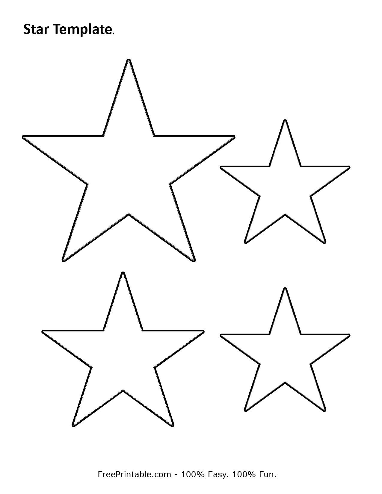 Customize Your Free Printable Star Template | Stencil | Star - Star Template Free Printable