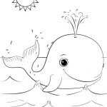 Cute Cartoon Whale Coloring Page | Free Printable Coloring Pages   Free Printable Whale Coloring Pages