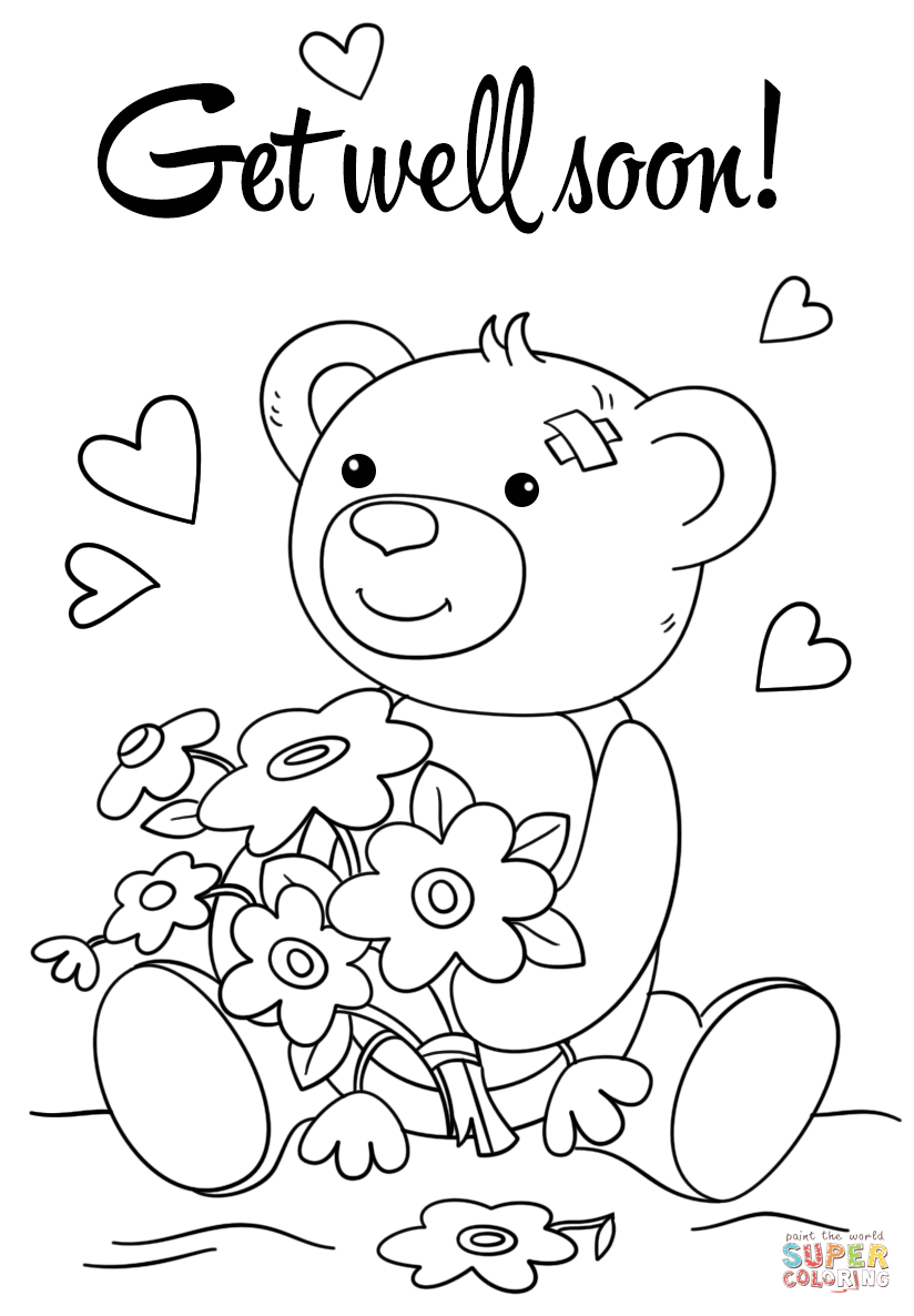 Cute Get Well Soon Coloring Page | Free Printable Coloring Pages - Free Printable Get Well Card For Child To Color