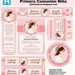 Cute Girl First Communion Free Printable Mini Kit. | Oh My First   First Communion Printables Free