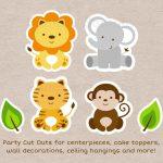 Cute Jungle Safari Animals Party Cutouts Decorations Printable   Free Printable Animal Cutouts