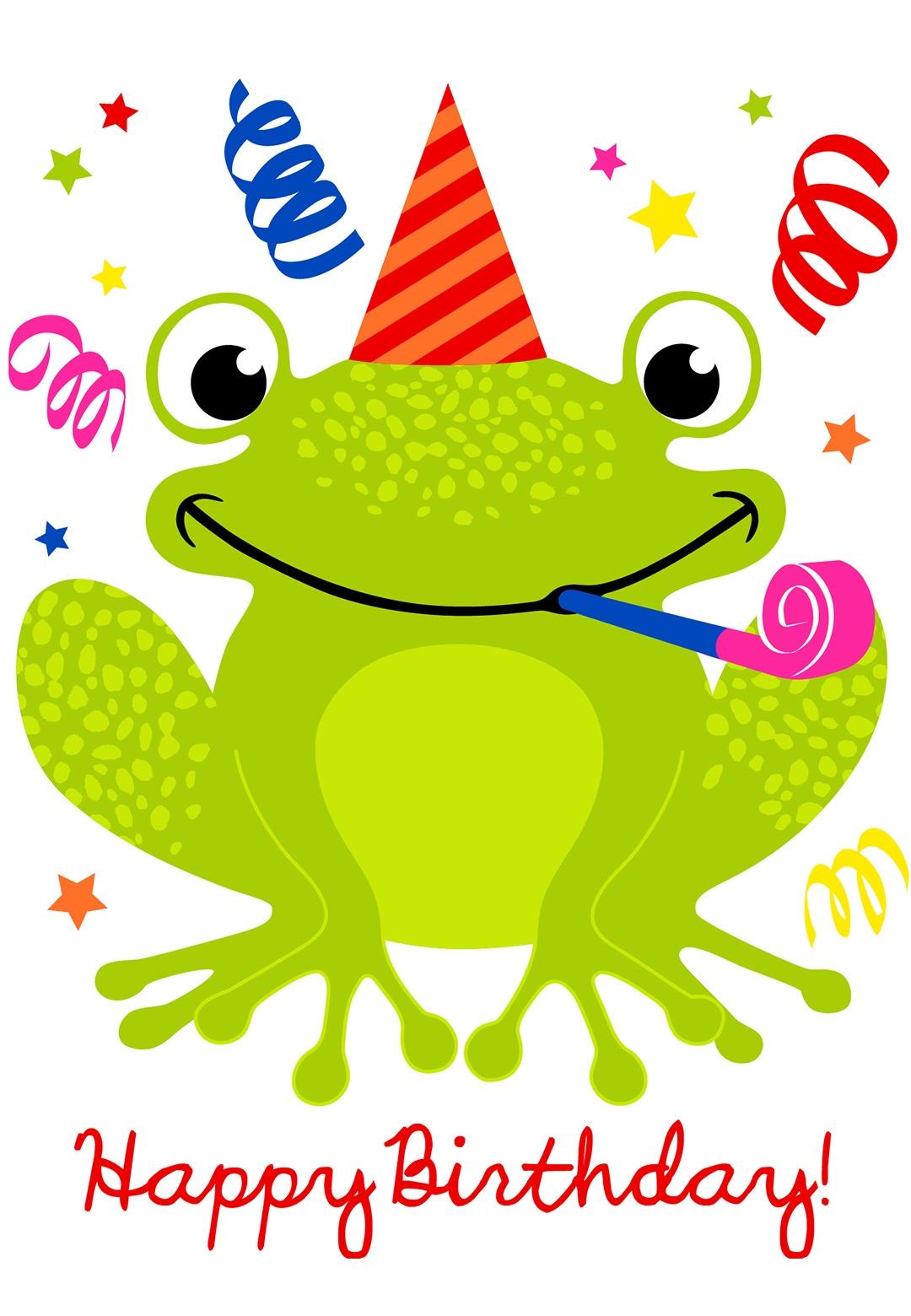 Cute Smiling Frog Birthday Card | Greetings Island - Free Printable Birthday Cards For Kids