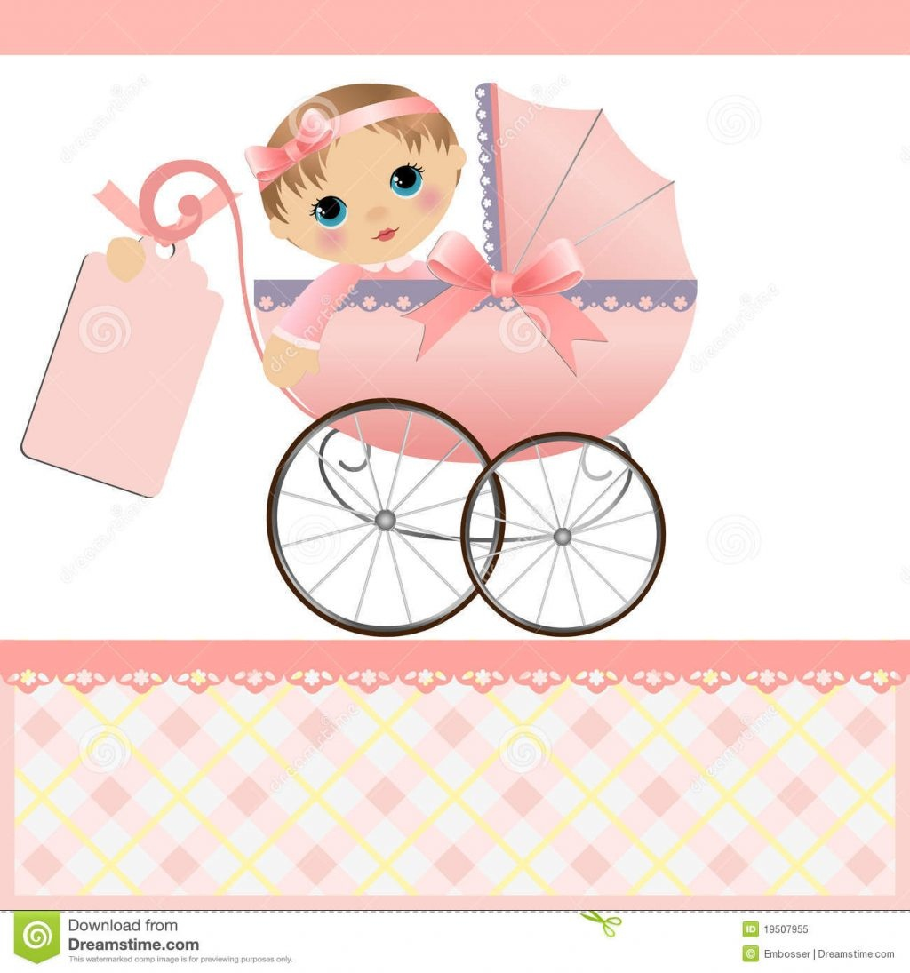 Cute Template For Baby Card Stock Vector Illustration Of Dedication - Free Printable Baby Cards Templates