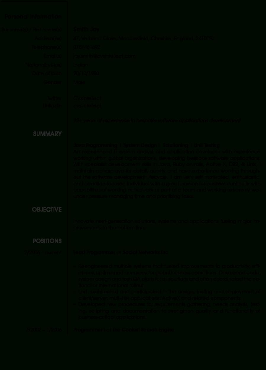 Cvsintellect - The Résumé Specialists | Free Online Cv Maker - How To Make A Free Printable Resume