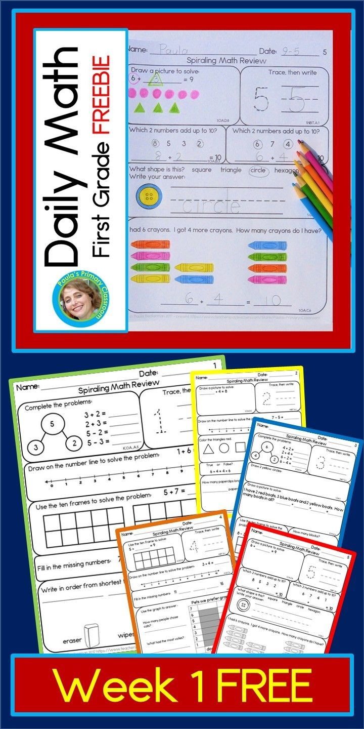 Daily Math For First Grade Free | My Blog And Freebies | Daily Math - Free Printable Daily Math Warm Ups