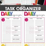 Daily Task Planning Organizer | Organize & Tidy! Spark Joy! | Daily   Free Printable Task Organizer