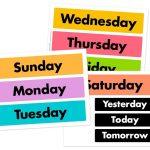 Days Of The Week Printable Free | Free Calendar Cards And Monthly   Free Printable Days Of The Week