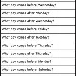 Days Of The Week – Worksheet / Free Printable Worksheets – Worksheetfun   Free Printable Days Of The Week