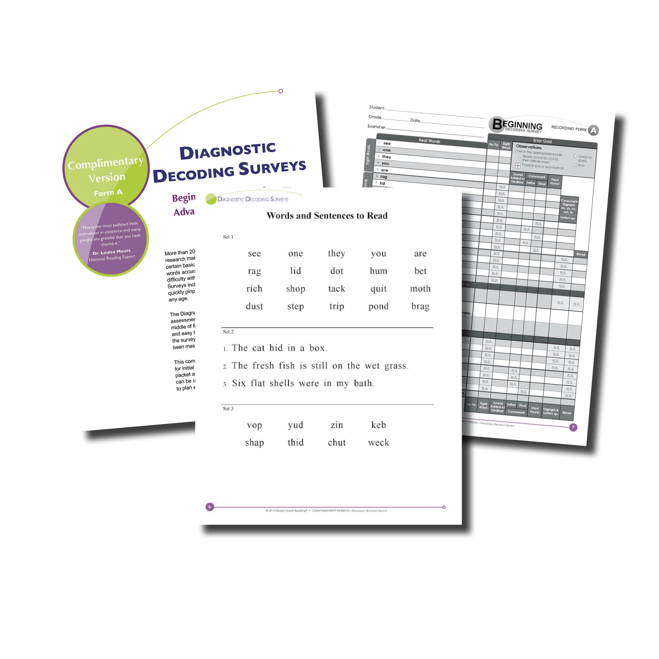 Diagnostics | Really Great Reading - Free Printable Diagnostic Reading Assessments
