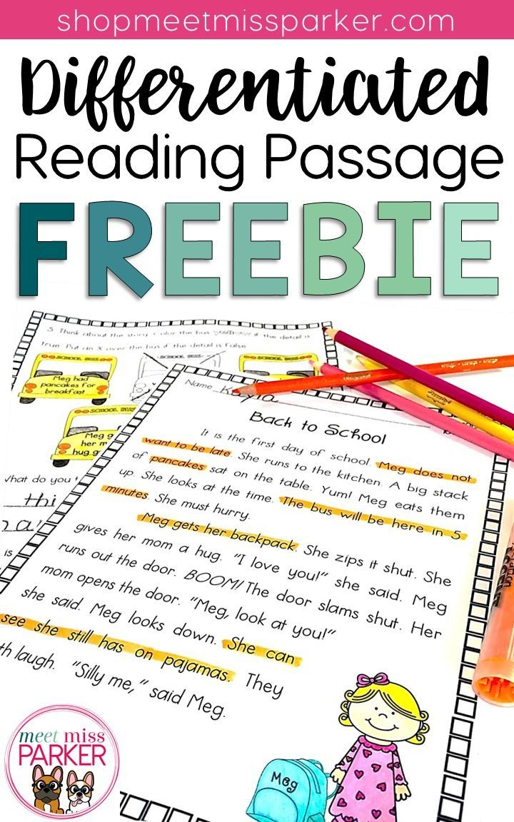 Differentiated Reading Passage And Questions Freebie | Third Grade - Free Printable High Interest Low Reading Level Stories