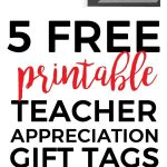 Digital Download: Teacher Appreciation Tags | Teacher Appreciation   Free Printable Tags For Teacher Appreciation