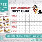Digital Mickey Mouse Potty Training Chart Free Punch Cards | Etsy   Free Printable Minnie Mouse Potty Training Chart