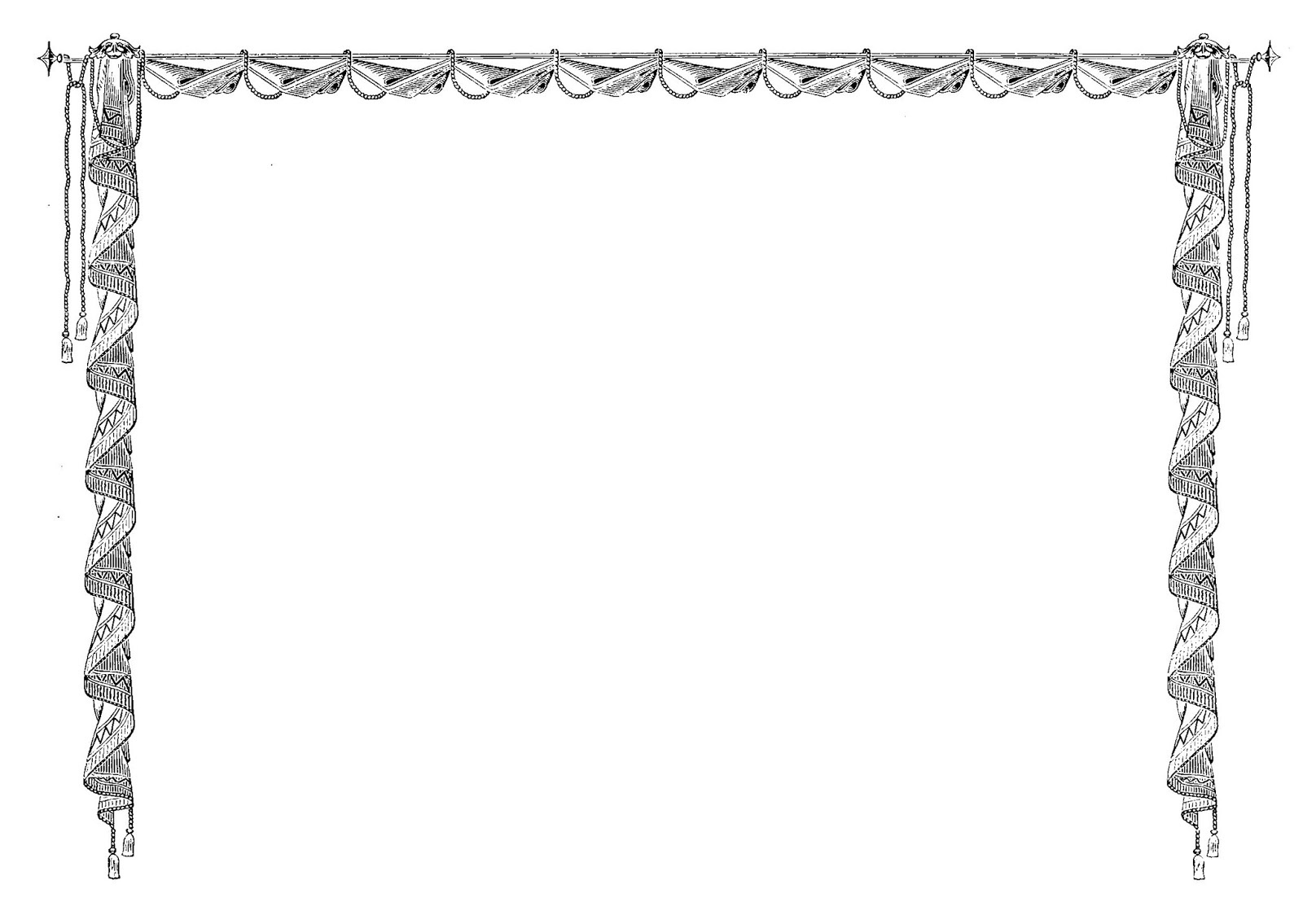 Digital Stamp Design: Royalty Free Printable Page Border Vintage - Free Printable Page Borders