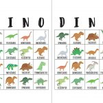 Dinosaur Bingo Cards   The Okie Home   Dinosaur Bingo Printable Free