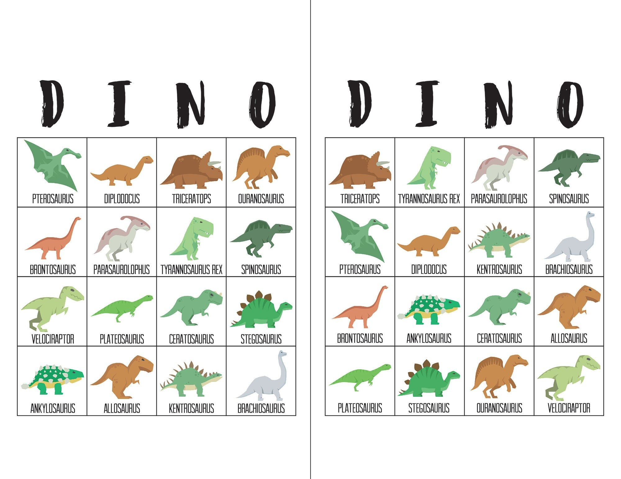 Dinosaur Bingo Cards - The Okie Home - Dinosaur Bingo Printable Free